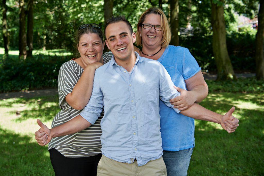 Drei Mitarbeiter der Jugendhilfe
